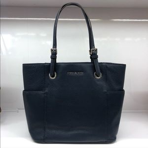 Michael Kors East West Navy Pebbled Leather Tote